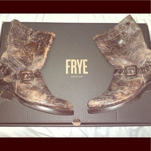 Frye Veronica Distressed Moro Boots